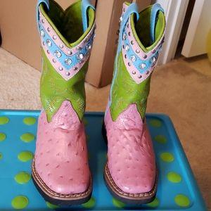 Fancy Pink Cowboy Boots
